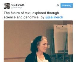 tweet of FoT talk